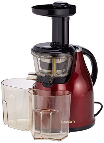Hurom HB Spremiagrumi (Rosso Vino), Estrattore di succo a bassa velocità 80giri/min, HB-EBE08