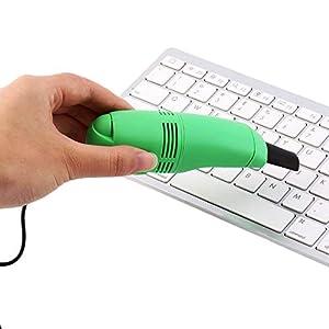 Mini Auto Teclado inal/ámbrico teclado electr/ónica limpiador Auto sof/á y otros muebles mango port/átil Nylon antiest/ática Cepillos Set de limpieza para teclado Aspirador Laptop color Negro