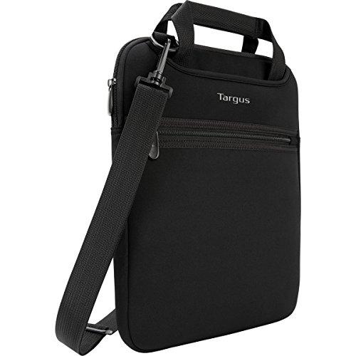 Targus Bolsa vertical para portátil de viaje profesional con asas ocultas, correa de hombro cruzada, acolchado protector para portátil de 14 pulgadas, negro (TSS913)