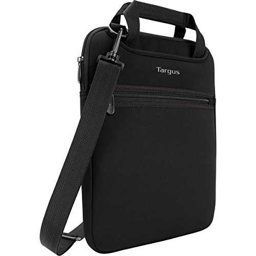 Targus Vertical Slipcase Secure Business Professional Travel Laptop Bag with Hideaway Handles, Cross Shoulder Strap, Protective Padding for 14-Inch Laptop, Black (TSS913)