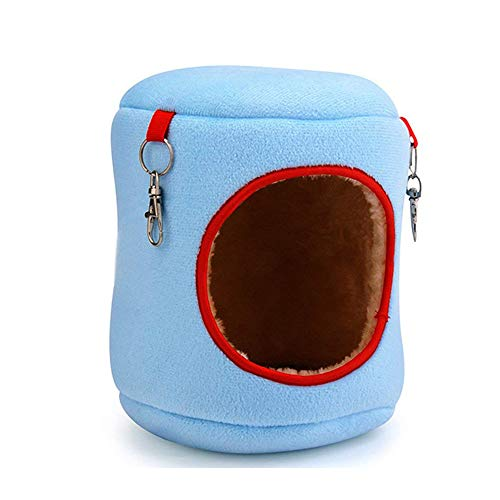 Ogquaton einfach und schön weich Hamster House Winter warmes Bett klein Animal Lair (blau)