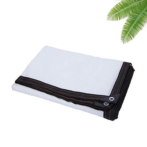 LRZLZY Cifrada Bloqueador Solar Pantalla de Tela, 95% Tela de la Cortina de la Perrera Barn Piscina Plantas Flores Invernadero Parasol (Color : White, Size : 8X8M)
