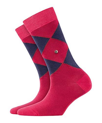 BURLINGTON Damen Socken Argyle Organic - 82% Baumwolle, 1 Paar, Rosa (Fuchsia 8856), Größe: 36-41