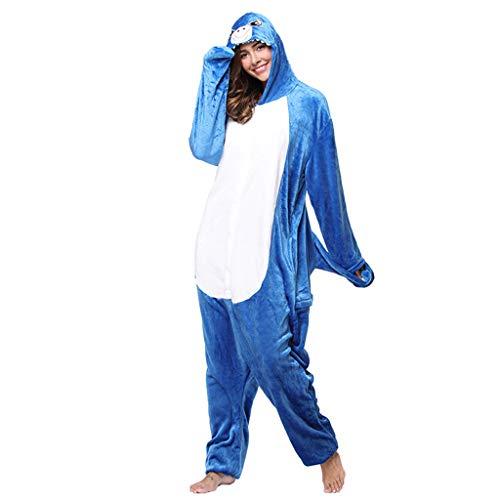 WANGLXPA Zachte Womens Onesies Pyjama, Unisex Cosplay Kostuum Meisjes Vrouwen Pyjama Jumpsuit Haai Volwassen Kerst Kostuums Lichtgewicht