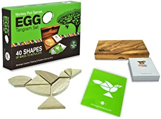 MONKEY POD GAMES Egg Tangram Set - A Premium Tangram Set