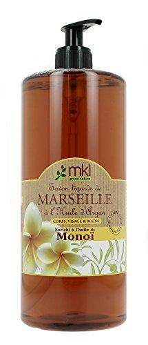 MKL Green Nature Savon Liquide de Marseille Huile d'Argan Huile de Monoï 1 L