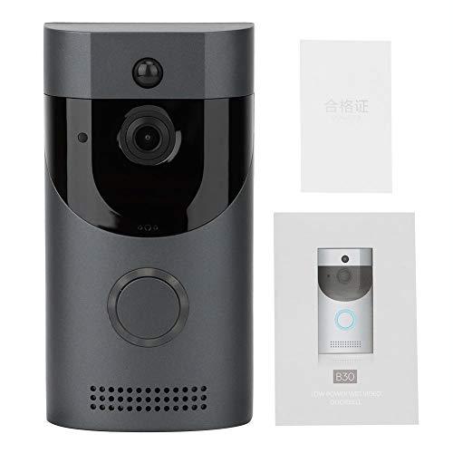 HERCHR Dörrklocka ringer trådlös med kamera, smart video dörrklocka, HD-video trådlös hemsäkerhet dörrklocka kamera