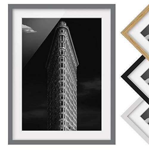 Póster Enmarcado - Flatiron Building - Color de Marco Gris 100 x 70 cm