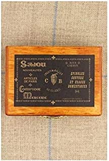 1pc Sajou Wooden French Miniature Embroidery Pin Needle Storage Box Luneville Tambour Hook Dressmaking Thread Cross Stitch Brooch 7cm x 5cm