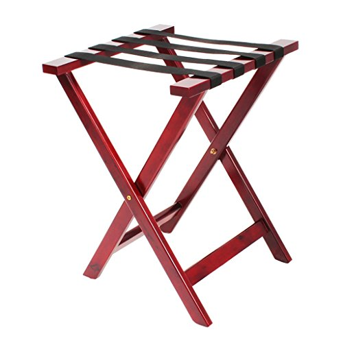 SH-xlj Foldable Luggage Rack, Wooden Foldable Suitcase Rack as Luggage Support Stand Tray Stand Suitcase Shelf Backpacks Organiser 45 * 46 * 62CM