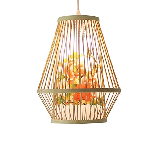 DM_T Original Bambus pendelleuchte Garten Tee Haus hängen Lampe südostasien Bambus deckenleuchte kreative led kronleuchter