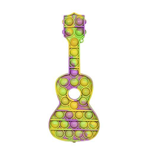 BNNEW Pop Pop Fidget Toy, Push Bubbles Pop Fidget Toy para niños autistas, Push Bubbles Pop Juguete sensorial Juguete de Silicona para aliviar el estrés con Autismo TDAH Necesidades Especiales