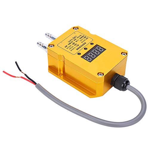 Weikeya Fácil de Instalar Transmisor de presión eólica, 85 mm DC24V M10 Ventilación de ventilación de ventilación aleación de Aluminio (Amarillo)
