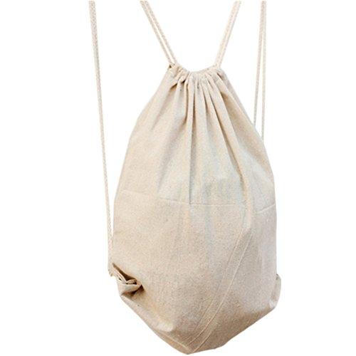 Cosanter, sacca in cotone Hipster con coulisse regolabile, borsa sportiva di alta qualità per adulti e bambini