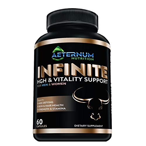 Infinite - HGH - Testosterone - Vitality Supplement-Includes Argnine-Glutamine, and More! Supports Strength, Stamina, Skin & Hair Health, Muscle Growth. for Men and Women 60 Capsules per Bottle.