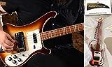 Porte-clés guitare basse Rickenbacker 4001 Fireglo