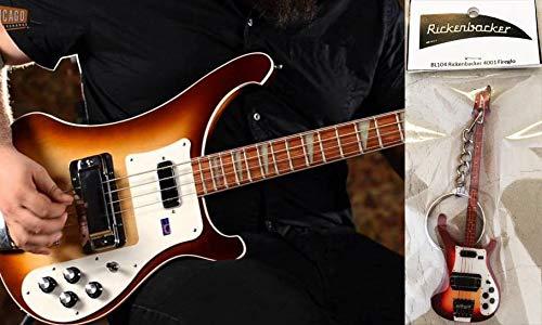 Llavero de bajo de guitarra Rickenbacker 4001 Fireglo