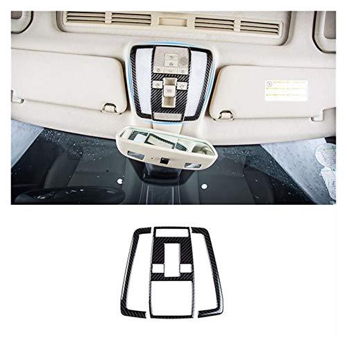 furong Lámpara de Lectura de la Lectura de la Lectura del Techo de la Fibra de Carbono Fit Fit para Mercedes Benz C Class W204 2007-2014 Decoración de Marco de luz de la luz (Color Name : Front)