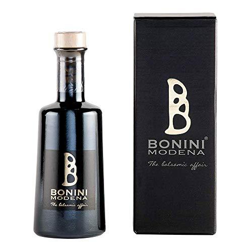 BONINI Hersteller von traditionellem Balsamico-Essig aus Modena DOP, Affinato Gewürz 250 ml, gereift in 12 Jahre alten Fässern, koscher zertifiziert, Made in Italy