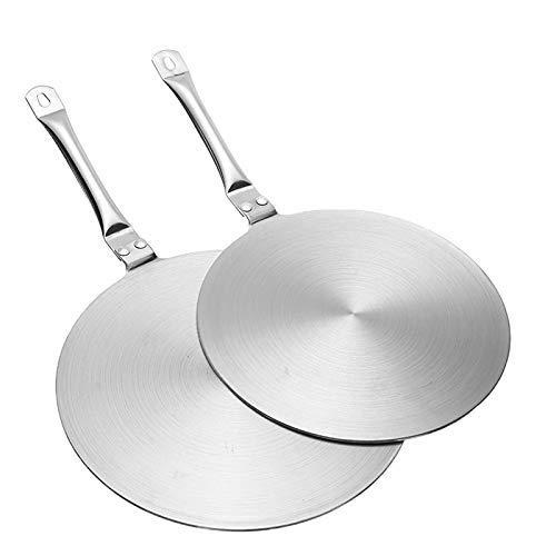 2pcs de acero inoxidable utensilios de cocina/Set 20 / 24cm de cocción Placa de inducción de calor Difusor adaptador convertidor de Cocinas eléctricas Placa de cocina de utensilios de cocina de acer