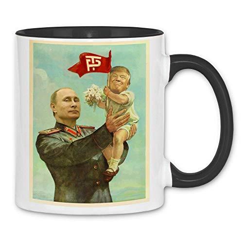 wowshirt Tasse Trump Putin USSR Sowjetunion CCCP, Farbe:White - Black