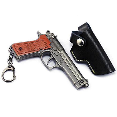 DJIEYU 1/3 Escala Ejército Militar Miniatura en Miniatura P92 Makarov P1911 Pistolas de Metal Modelo Pistola Accesorios Juguete Die Cast Decoración Juguetes