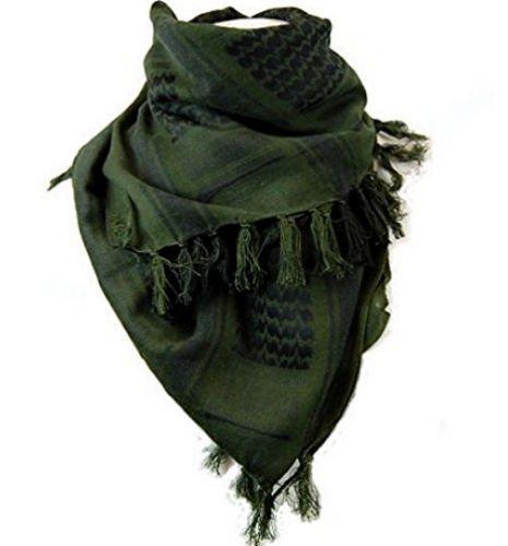 Dhana Style Afgan Stole Military Shemagh Tactical Shemagh Arab Desert Keffiyeh Neck & Head Scarf Wrap Turban Woven Cotton 100% (Green)