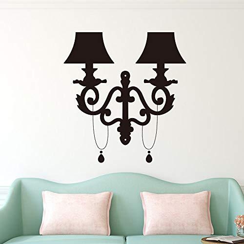 Arte nórdico lámpara de cabecera creativa moderna etiqueta de la pared para la ventana del hogar decoración de vidrio decoración del dormitorio fondo etiqueta de la pared calcomanía mural A9 43x46 cm