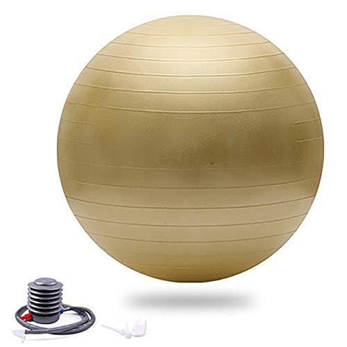 SSZY - Pelota de gimnasia para adultos, para principiantes, con bomba rápida para casa, exterior, gimnasio, varios colores, color dorado, tamaño 65cm/25.6in