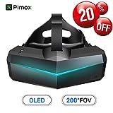 Pimax 5K XR OLED VR Casque de Réalité Virtuelle, avec Un Champ de Vision de 200°, Double Moniteur OLED 2560x1440p, [Casque...