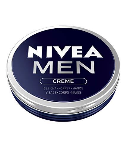 Nivea Men Creme im 1er Pack (1 x 75 ml), Hautcreme für Gesicht, Körper & Hände, pflegende Feuchtigkeitscreme mit frisch-maskulinem Duft