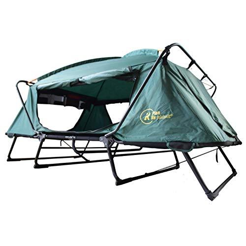 Plan Re feldzelt Feldbett mit Zelt 1 Person auf Beinen Feldbett Zelt Karpfenzelt Angelzelt 100% Wasserdicht durch doppelte Außenhaut Mückensicher durch Fliegengitter inklusive Isomatte