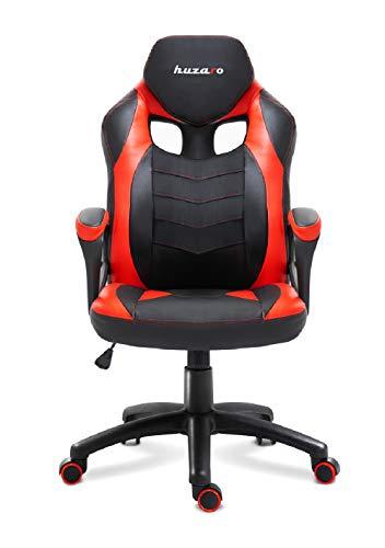 huzaro red Force 2.5 Gaming Stuhl Bürostuhl Schreibtischstuhl Verstellbare Armlehnen Ergonomisches Design Rot, Klein