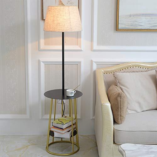 Vloerlamp Woonkamer Slaapkamer plank Eenvoudige Moderne Hoge Paal Linnen Lampenkap Lezen Staande Lamp 0705LDD