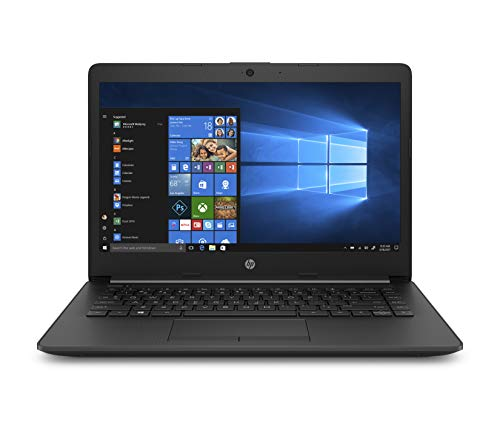 HP 14-cm0002ns - Ordenador portátil 14' HD (AMD A9-9425, 4GB RAM, 128GB SSD, Integrada, AMD Radeon R5, Windows 10) color negro - Teclado QWERTY Español