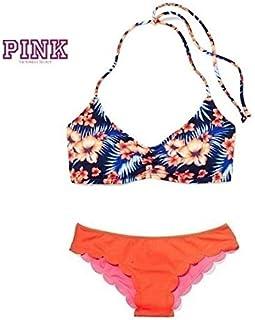 新品 PINK Victoria's Secret ピンク ヴィクトリアシークレット Ruched Halter ビキニset
