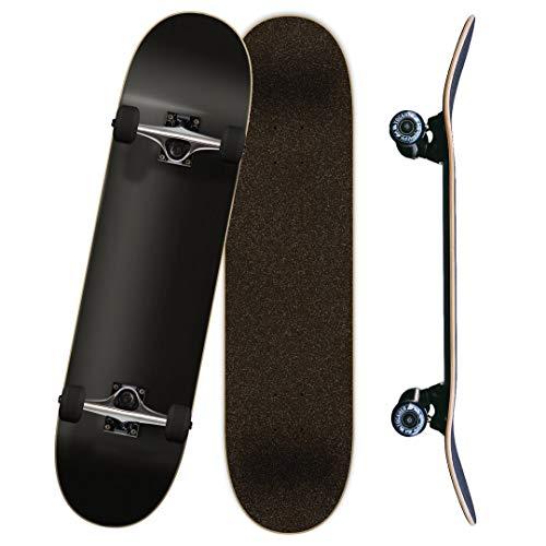 """Yocaher Blank Complete Skateboard 7.75"""" Skateboards - (Complete 7.75"""" Black)"""