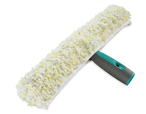 Leifheit Professional Einwascher 35 cm mit spezieller Reinigungsfaser, Fensterreiniger mit verstärktem Kunststoffgriff, Fensterwischer mit Klettband