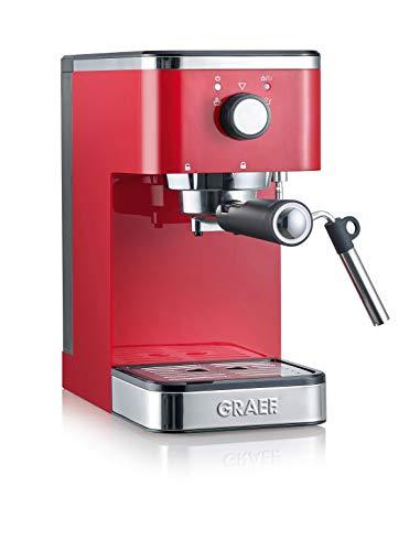 Graef Salita Cafetera expreso con soporte para filtro, 1400 W, rojo