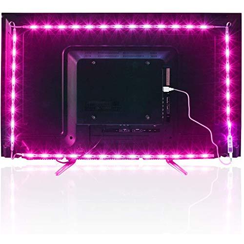 Led TV Hintergrundbeleuchtung, 4.36M USB Led Beleuchtung Hintergrundbeleuchtung Fernseher USB für 65 bis 75 Zoll HDTV,TV-Bildschirm und PC-Monitor,Led Strip.MEHRWEG