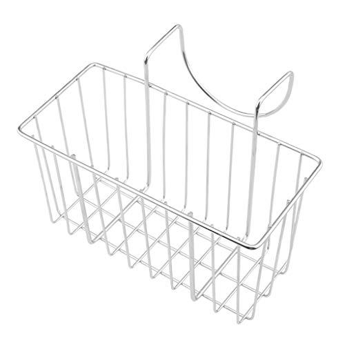 Fenteer Porte-éponge de Cuisine en Acier Inoxydable Porte-Savon pour évier Organisateur de Caddy pour évier - Argent, Une