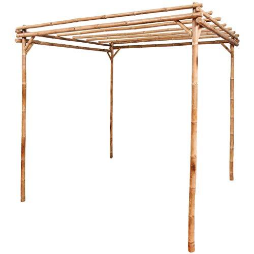 vidaXL Pérgola de Jardín Madera de Bambú Marrón 195x195x195 cm Cenador Patio