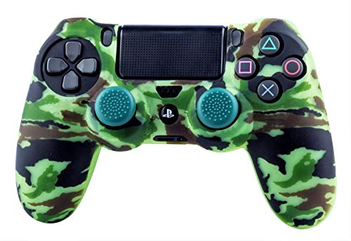 FR·TEC - Protector de Silicona Camo Woodland + Grips, para mando Dualshock de PlayStation 4