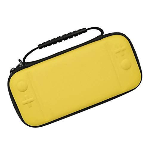 H HILABEE para Switch Lite Bolsa de Almacenamiento de Consola Bolsa Protectora de EVA Dura - Amarillo
