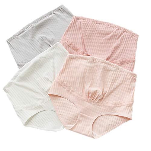 Women's clothing Culotte De Maternité sous-VêTements Abdominaux pour Femmes Enceintes Taille Haute en Coton,Taille Ajustable sous-VêTements en Dentelle De Grande Taille pour Dames AdaptéS à 50-90 Kg