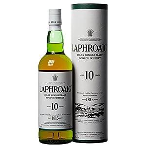Laphroaig 10 Jahre Islay Single Malt Scotch Whisky mit Geschenkverpackung, einzigartig rauchig-torfiger Geschmack, 40…