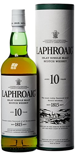 Laphroaig 10 Jahre Islay Single Malt Scotch Whisky 10 Jahre, Standard (1 x 0.7 l)