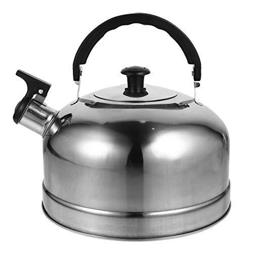 Cabilock Bollitore a fischio, in acciaio inox, 3 l, teiera, bollitore a fischio, per induzione, teiera, cucina, casa, gas, campeggio