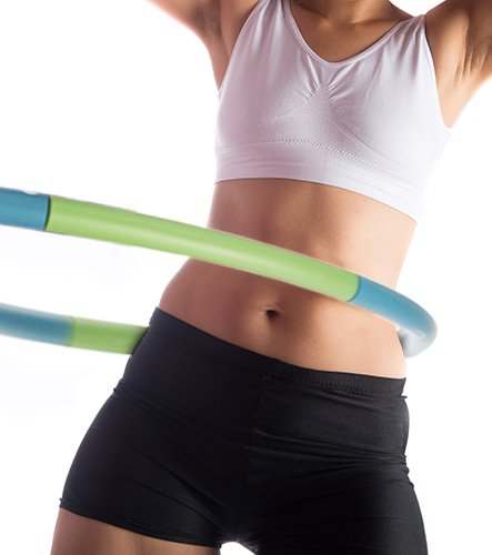 Empower Weighted Hula Hoop for Women, Weighted Fitness Hoop for Exercise, Cardio, Dance, Fat Burning, 3lb