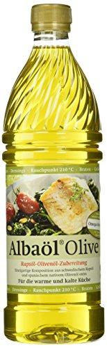 ALBAÖL OLIVE - Rapsöl-Olivenöl-Zubereitung der Profiköche 750ml, 6er Pack (6 x 750ml)